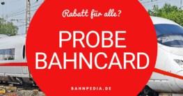 Probe BahnCard der Deutschen Bahn