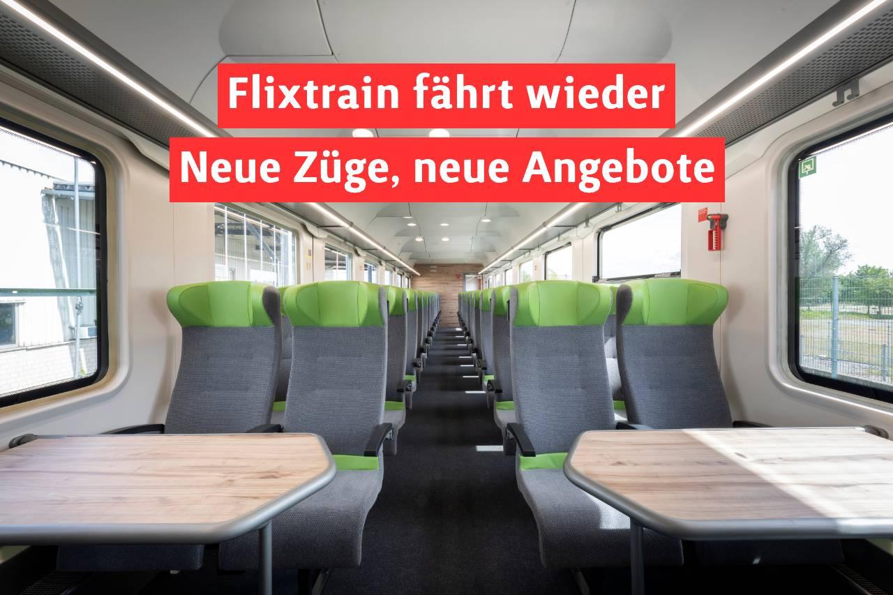 Flixtrain fährt wieder