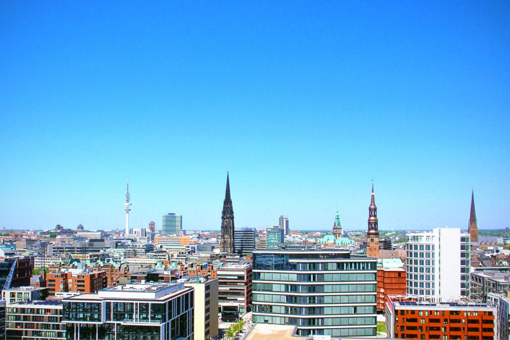 Blick über Hamburg - Urlaub in Deutschland